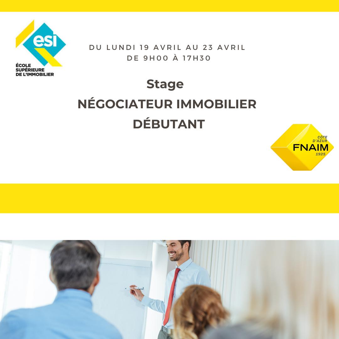 Stage d'intégration Négociateur Immobilier Débutant