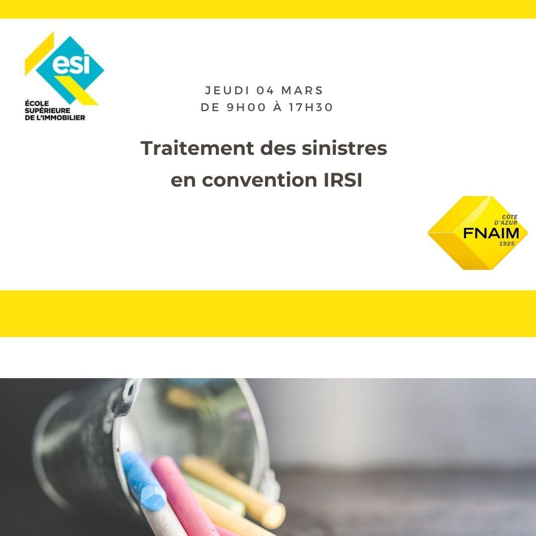 Traitement des sinistres en convention IRSI