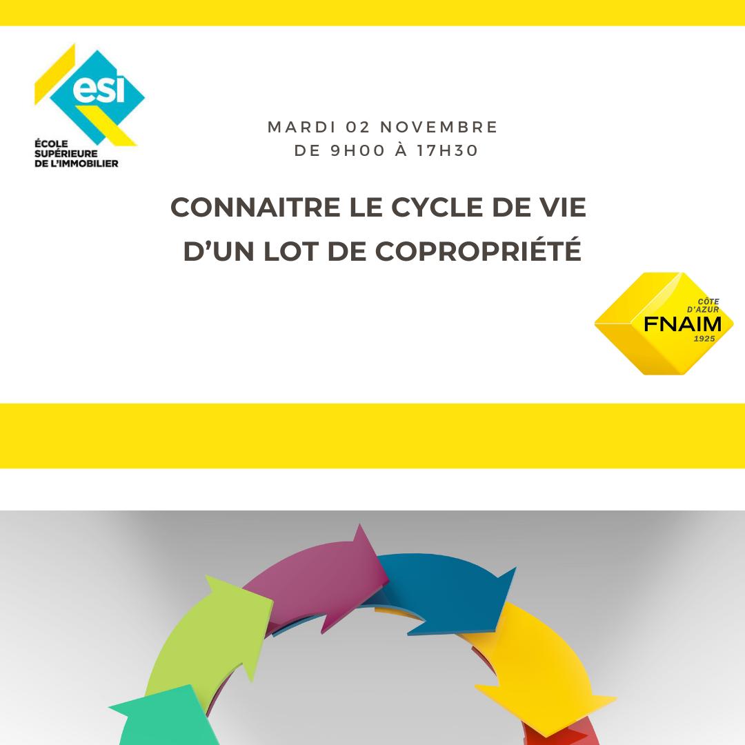 CONNAITRE LE CYCLE DE VIE D'UN LOT DE COPROPRIÉTÉ