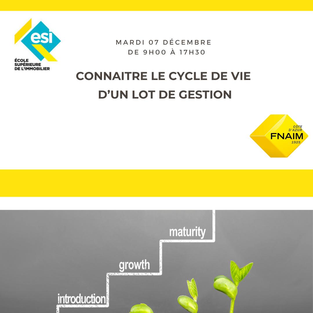 CONNAITRE LE CYCLE DE VIE D'UN LOT