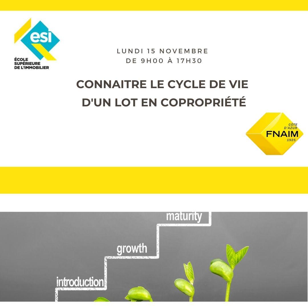 CONNAITRE LE CYCLE DE VIE D'UN LOT DE COPROPRIETE